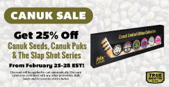 Canuk Sale: 25% OFF