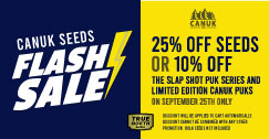 Flash SALE - 25% OFF Canuk Seeds