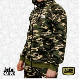 Unisex Zip-Up Camo Hoodie